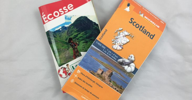 carte guide road trip voyage ecosse